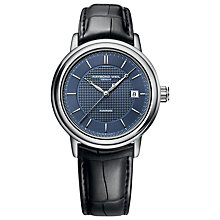 Buy Raymond Weil 2837-STC50001 Men's Maestro Automatic Leather Strap Watch, Black / Blue Online at johnlewis.com