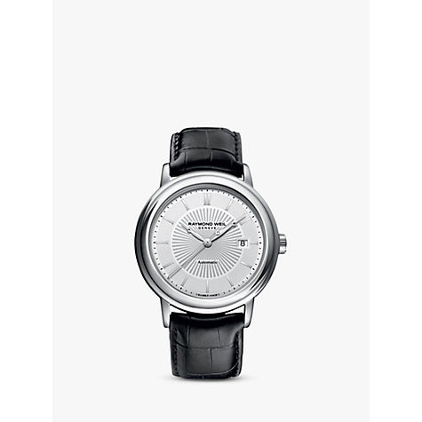 Buy Raymond Weil 2847-STC30001 Men's Maestro Automatic Leather Strap Watch, Black / Silver Online at johnlewis.com
