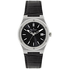 Buy Dreyfuss & Co DGB00086/20 Men's Seafarer Leather Strap Watch, Black Online at johnlewis.com
