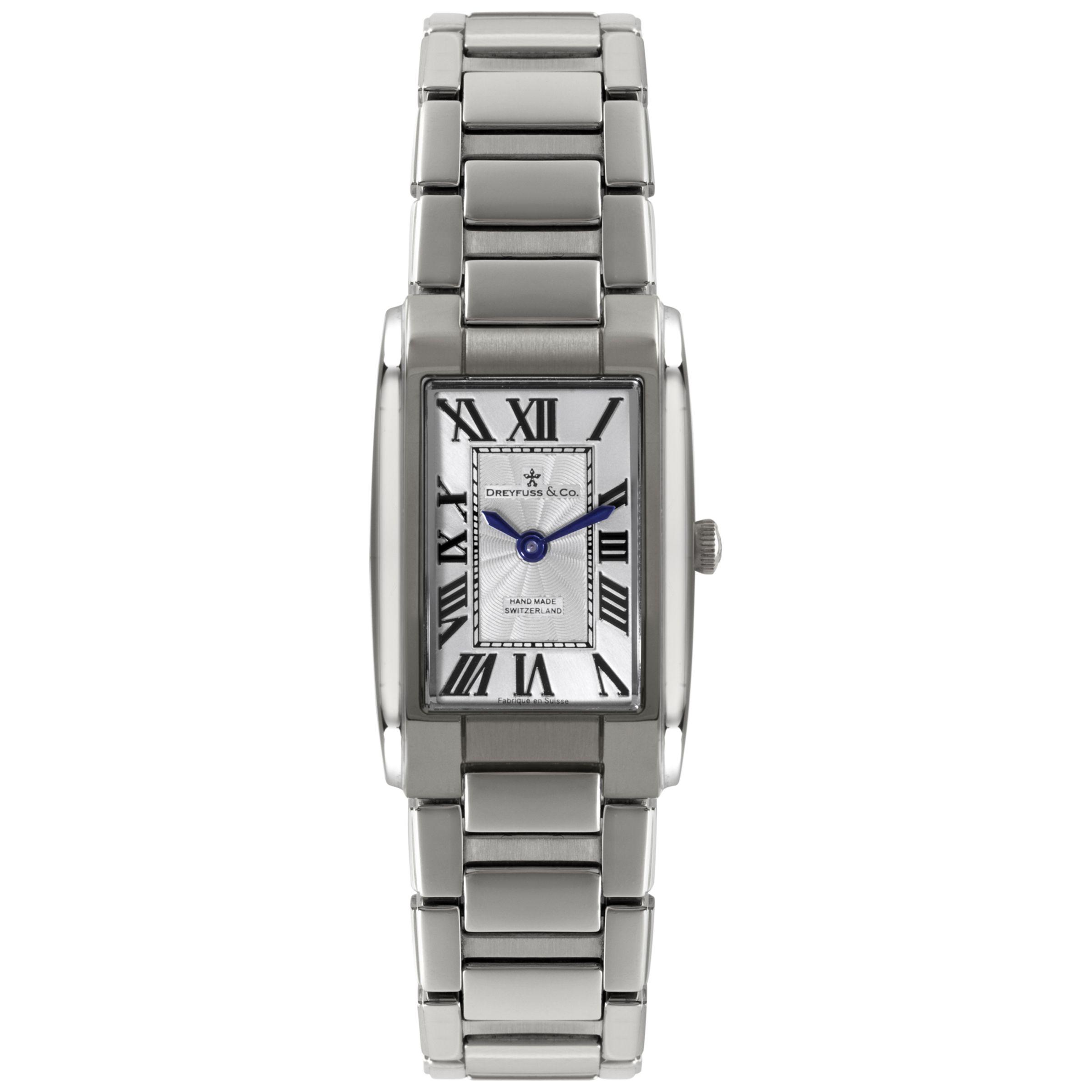 Dreyfuss & Co Dreyfuss & Co Women's Seafarer Stainless Steel Bracelet Strap Watch
