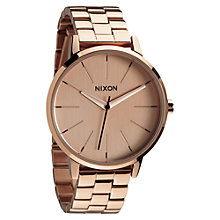 Buy Nixon A099-897 Women's The Kensington Stainless Steel Bracelet Strap Watch, Rose Gold Online at johnlewis.com