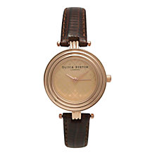Buy Olivia Burton OB13MV01 Women's Modern Vintage T-Bar Leather Strap Watch, Brown Online at johnlewis.com