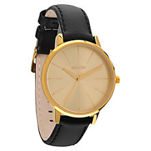 Buy Nixon A108-1045 Women's The Kensington Leather Strap Watch Online at johnlewis.com