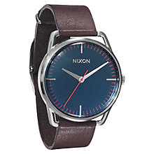 Buy Nixon Men's The Mellor Stainless Steel Leather Strap Watch Online at johnlewis.com