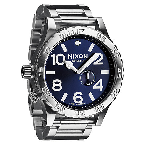 Buy Nixon A057-1258 Men's The 51-30 Tide Stainless Steel Bracelet Strap Watch Online at johnlewis.com