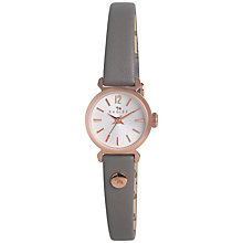 Buy Radley RY2176 Women's Marsupial Leather Strap Watch, Grey/Rose Gold Online at johnlewis.com