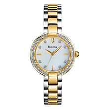 Buy Bulova Women's Aracena Mother of Pearl Diamond Dial Watch Online at johnlewis.com