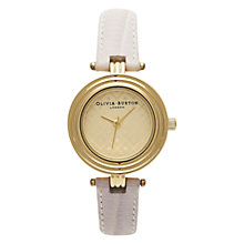 Buy Olivia Burton OB13MN02 Women's T Bar Leather Strap Watch Online at johnlewis.com