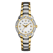 Buy Bulova Women's Maribor Diamond Bezel Bracelet Watch Online at johnlewis.com