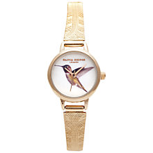 Buy Olivia Burton OB13MW02 Women's Woodland Animal Mesh Strap Watch, Hummingbird Online at johnlewis.com