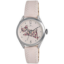 Buy Radley Women's Spotty Dog Crystal Detail Leather Strap Watch Online at johnlewis.com