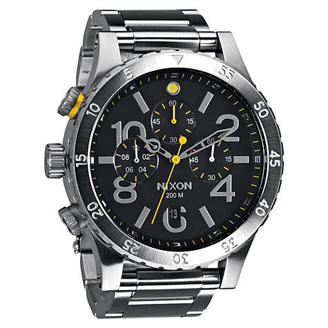 Buy Nixon Men's The 48-20 Chronograph Stainless Steel Bracelet Strap Watch Online at johnlewis.com