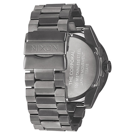 Buy Nixon Men's The Corporal Brushed Stainless Steel Watch Online at johnlewis.com