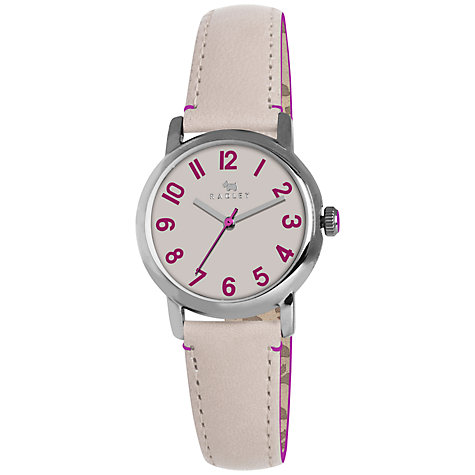 Buy Radley RY2161 Women's Leather Strap Watch, Pink Online at johnlewis.com