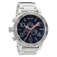 Buy Nixon Men's 51-30 Chronograph Stainless Steel Bracelet Strap Watch Online at johnlewis.com