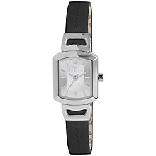Buy Radley RY2203 Women's Grosvenor Leather Strap Watch, Black/Silver Online at johnlewis.com