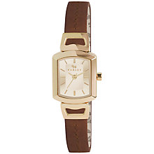 Buy Radley RY2200 Women's Grosvenor Leather Strap Watch, Tan Online at johnlewis.com