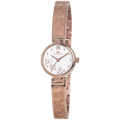 Buy Radley Women's Etched Half Bangle Stainless Steel Watch Online at johnlewis.com
