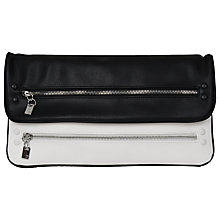Buy French Connection Life In The Fast Lane Clutch, Black/White Online at johnlewis.com