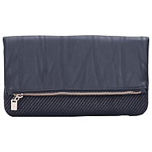 Buy French Connection Confetti Weave Clutch, Black/Jacquard Online at johnlewis.com