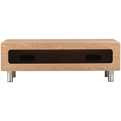"Buy Alphason Ambri ABR1100CB TV Stand for up to 46"" TVs, Light Oak Online at johnlewis.com"