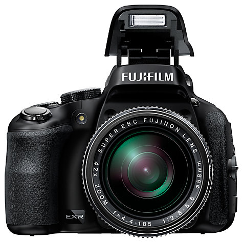 "Buy Fujifilm HS50EXR Bridge Camera, HD 1080p, 16MP, 42x Optical Zoom, 3"" LCD Screen, Black Online at johnlewis.com"