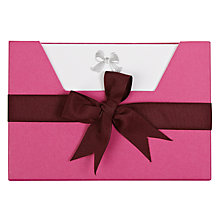 Buy Julie Bell Bow Notecards Wallet, Pack of 10 Online at johnlewis.com