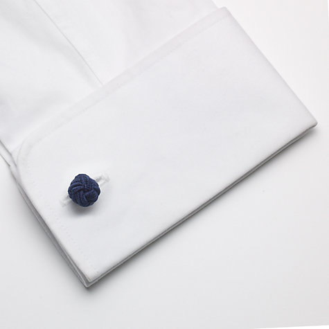 Buy John Lewis Silk Knot Cufflinks, Box of 3, Light Blue/Navy/Grey Online at johnlewis.com