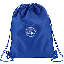 Buy Dolphin School Unisex Drawstring Rucksack, Royal Blue Online at johnlewis.com