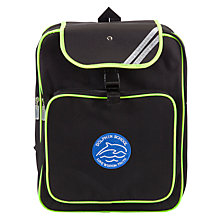 Buy Dolphin School Unisex High Visibility Backpack, Black Online at johnlewis.com