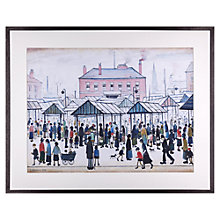 Buy L. S. Lowry - Market Scene, Northern Town Framed Print, 80 x 64cm Online at johnlewis.com
