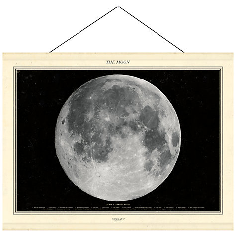 Buy Newgate The Moon Canvas Banner, 76 x 98cm Online at johnlewis.com