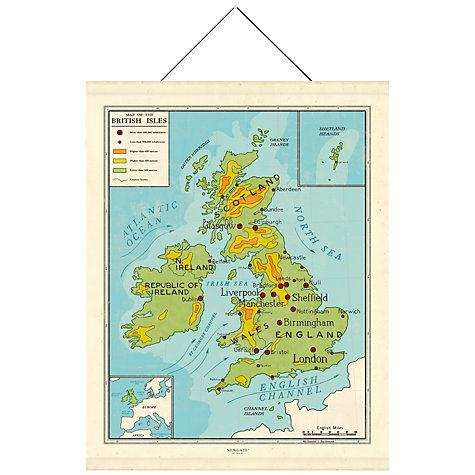 Buy Newgate Map of British Isles Canvas Banner, 195 x 151cm Online at johnlewis.com