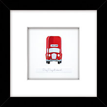 Buy London Bus Framed 3D Laser-cut Print, 26 x 26cm Online at johnlewis.com