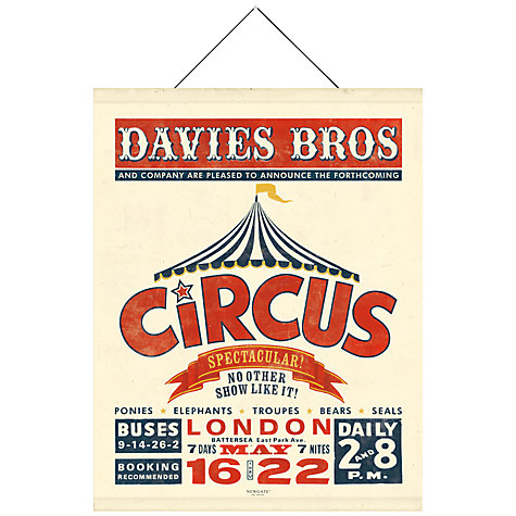 Buy Newgate The Circus Canvas Banner, 98 x 76cm Online at johnlewis.com