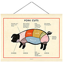Buy Newgate Pork Cuts Canvas Banner, 76 x 98cm Online at johnlewis.com