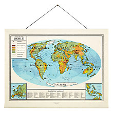 Buy Newgate World Map Canvas Banner, 151 x 195cm Online at johnlewis.com