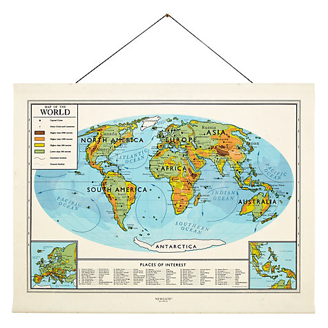 Buy Newgate World Map Canvas Banner, 132 x 169cm Online at johnlewis.com