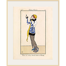 Buy The Courtauld Gallery, Gazette Du Bon Ton - Journal des Dames et des Modes No.52, 1913. Costumes Parisiens Print, 50 x 40cm Online at johnlewis.com