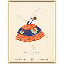 Buy The Courtauld Gallery, Gazette Du Bon Ton - No1 1920 Mme Paulette Duval Print, 50 x 40cm Online at johnlewis.com