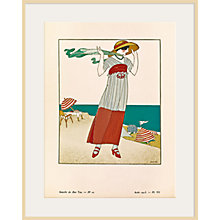 Buy The Courtauld Gallery, Gazette Du Bon Ton - No10 1913 Sur La Falaise Print, 50 x 40cm Online at johnlewis.com