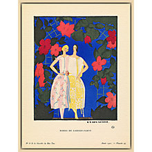 Buy The Courtauld Gallery, Gazette Du Bon Ton - No6 1921 Robes de Garden-Party Print, 50 x 40cm Online at johnlewis.com