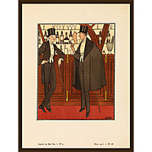 Buy The Courtauld Gallery, Gazette Du Bon Ton - No5 1913 La Cape Noire Print, 50 x 40cm Online at johnlewis.com