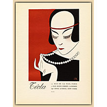 Buy The Courtauld Gallery, Gazette Du Bon Ton - No6 1921 Cecla Pearls Print, 50 x 40cm Online at johnlewis.com