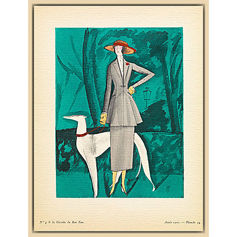 Buy The Courtauld Gallery, Gazette Du Bon Ton - No4 1921 La Dame au Lévrier Print, 50 x 40cm Online at johnlewis.com
