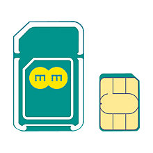 Buy EE Pay As You Go 4G Mobile Broadband Combi SIM Card, 2GB Preloaded Online at johnlewis.com