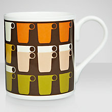Buy Orla Kiely Mugs Pattern Mug, Chocolate Online at johnlewis.com