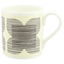 Buy Orla Kiely Textured Flower Mug, Grey Online at johnlewis.com