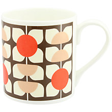 Buy Orla Kiely Square Flower Mug, Brown Online at johnlewis.com