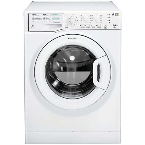 Buy Hotpoint WMSL521P Washing Machine, 5kg Load, A+ Energy Rating, White Online at johnlewis.com